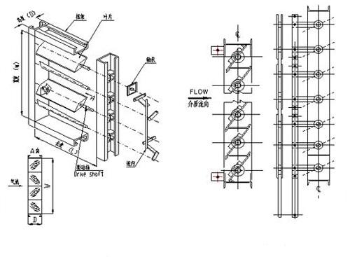 调节挡板门构造
