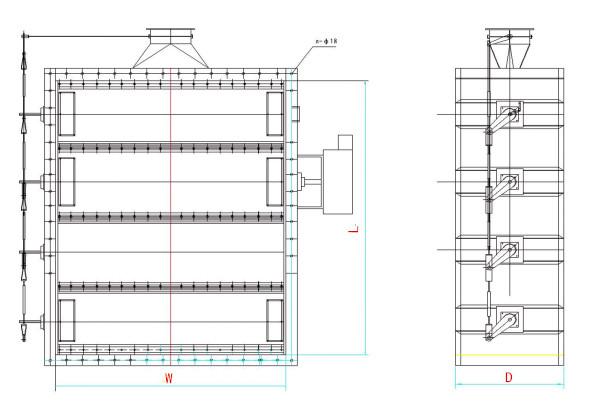 双密封挡板门结构图